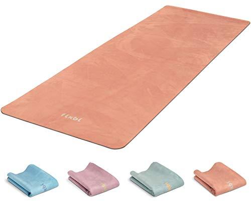 FLXBL Yoga Luxe Antislip Yogamat – Wasbaar – Dun, Licht en Opvouwbaar voor Onderweg – Duurzaam Natuurrubber en 100…