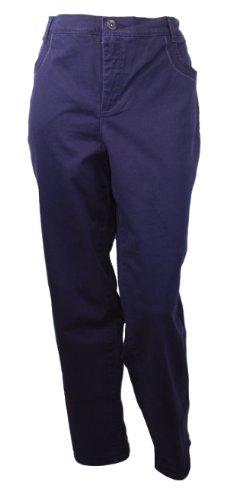 Gloria Vanderbilt Plus Size Cadence Ankle Grazer Pants (Deep Amethyst, 16W)