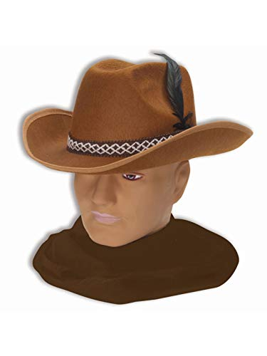 Forum Novelties Felt Cowboy Hat (Brown)-Standard