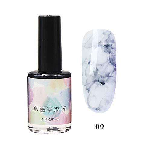 Sizet 12 Colors Transparent Marble Pattern Nail Polish Nail Art Dyeing Liquid Gradient Watercolor Ink Gel Nail Polish