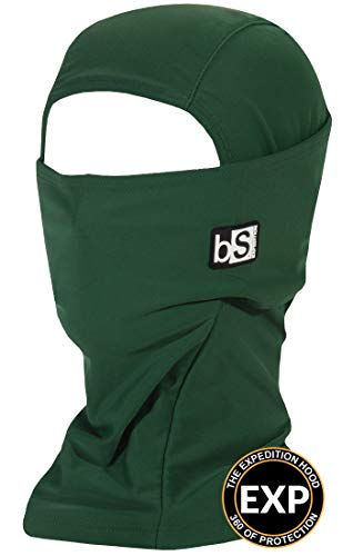BLACKSTRAP Expedition Hood Balaclava Face Mask, Dual Layer Cold Weather Headwear for Men and Women for Extra Warmth, Forest Green