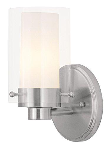 (Livex Lighting 1541-91 Manhattan 1-Light Brushed Nickel Bath Vanity,)