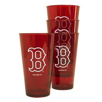 Boston Red Sox Plastic Pint Glass Set