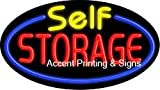 Self Storage Flashing Handcrafted Real GlassTube Neon Sign