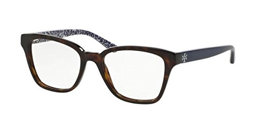 Tory Burch TY2052 Eyeglass Frames 1348-49 - Dark Tortoise/navy - Burch Tory Retailers
