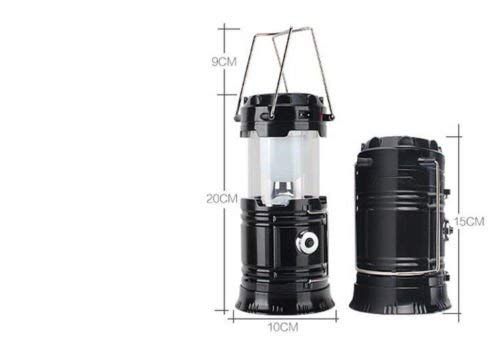 KAESER WILDERNESS SUPPLY Pack of 2 LED Solar Lanterns Emergency Flashlight Rechargeable Outdoors Portable Collapsible
