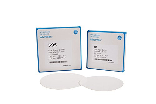 GE Bio-Sciences 10311822 Filter Paper Cellulose Pack of 100 Grade 597 320 mm Diameter Circle