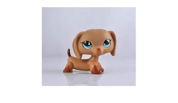 2*Littlest Pet Shop Hasbro LPS#518#932 Toys Brown Puppy Dachshund Wiener Dog Toy