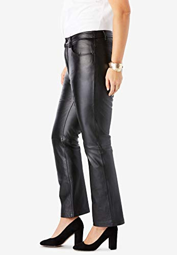 3832054b Jessica London Women's Plus Size Straight Leg Leather Pants | Weshop ...
