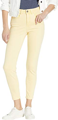 FDJ French Dressing Jeans Women's Solid Cool Twill Olivia Slim Ankle Buttercup 10 28
