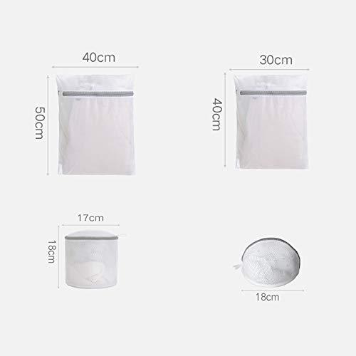 QianYi Reusable Mesh Wash Bag, 6Pcs Mesh Laundry Bag,Travel Storage Organize Delicates Laundry Bag Machine Dryer Bra Lingerie Socks Underwear