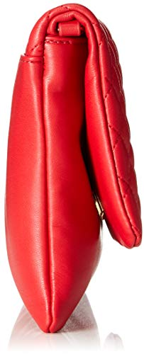Nappa Moschino Quilted Women's Love Red Bag Pu rosso Borsa Shoulder w6fqWWtOx