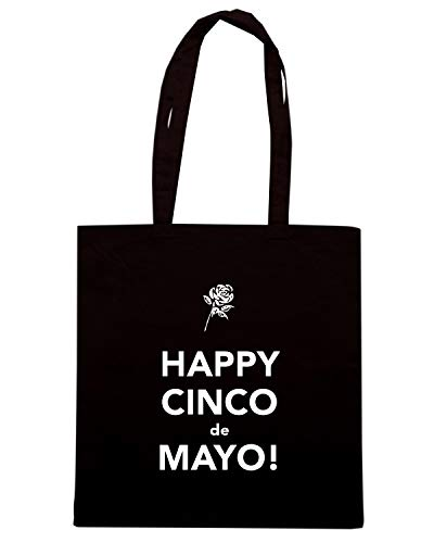 Borsa Shopper Nera TKC3837 HAPPY CINCO DE MAYO