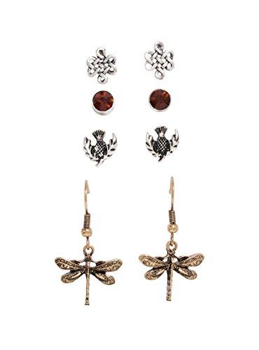 Outlander Symbol Earring 4 Pair ()
