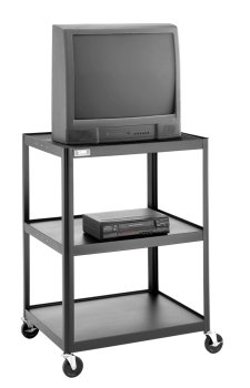 "UPC 717068289536, Da-Lite Assembled 54"" High Adjustable Projector Cart with 25"" x 30"" Shelf and 5"" Casters"