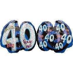 Mayflower BB19458 Oh No 40Th Birthday Shaped Balloon