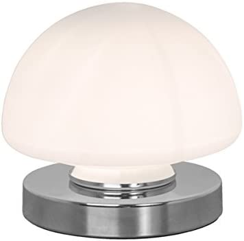 Benross Group Chrome Finish Opal Dome Touch Table Lamp, Foam, Silver, Single (90 x 190 cm)