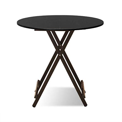BETTY Tables Solid Wood Folding Table, Kitchen Catering and Coffee Coffee Table Outdoor Camping Round Folding Table Computer Work Desk,70x74cm (Color : Style-3) ()