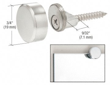C.R. Laurence MC02CH CRL Chrome Round Mirror Clip Set ()