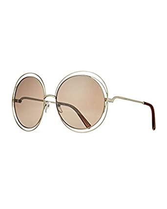 b2e0988cb8a Image Unavailable. Image not available for. Color  Chloe Carlina Trimmed Round  Sunglasses ...