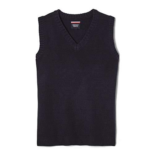 French Toast  Boys' V-neck Sweater Vest, Navy, Small/6-7,Little Boys