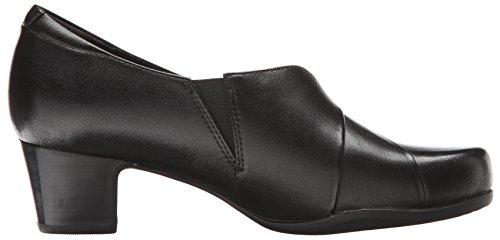 CLARKS Damen Rosalyn Adele Slip-On Loafer Schwarzes Leder