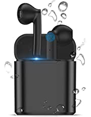Wireless Earbuds, Bluetooth 5.0 Earbuds Waterproof Touch Control Wireless Earphones with Hi-Fi Stereo Audio, Type-C Quick Charging Case, 15H Playtime, Built-in Mic for iPhone, Android, Samsung