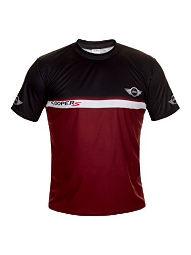 (Mini Coopers Black Short Sleeve Cool T Shirt Auto Car Graphics Tee (L))
