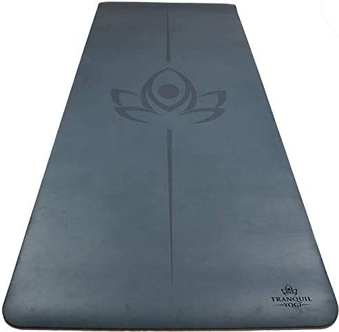 Tranquil Yogi Natural Yoga and Exercise Mat – Excellent Grip and Joint Protection, Includes Carry Strap.