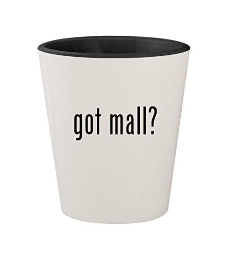 got mall? - Ceramic White Outer & Black Inner 1.5oz Shot ()
