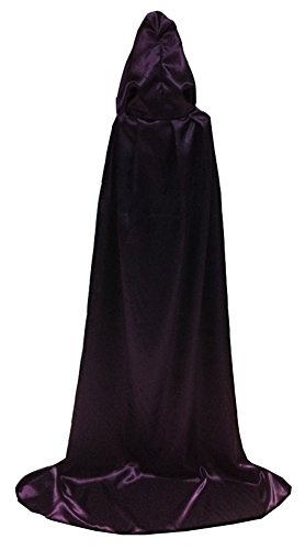 Unisex-child Halloween Costumes Wizard Cloak God of Death Cape Witches Robes Cos (Large, purple) (Devil Robe Child Costume)