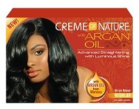 creme of nature with Argan oil no-lye Relaxer regular colomer U.S.A INC.