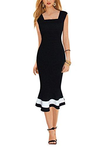 Buy below the knee cotton summer dresses - 1