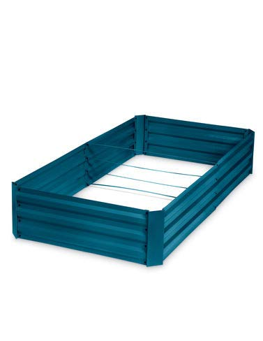 - Gardener's Supply Company Corrugated Metal Powder-Coated Steel Raised Bed, 34