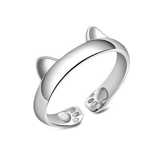 Madeone ✦18K Gold Plating Cat or Foxes Adjustable Ring for Women Hypoallergenic with Box Packing (Cat Ears Ring)
