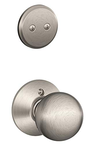 Schlage F94-ORB Orbit Knob Dummy Interior Pack from The F-Series, Satin Nickel