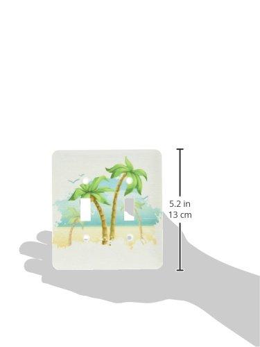 3dRose lsp/_104499/_2Pretty Palm Trees Beach Scene Summer Nature Design Double Toggle Switch Multicolor