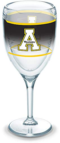 Tervis 1292127 Appalachian State Mountaineers Original Insulated Tumbler with Wrap, 9oz Wine Glass, - Glass State University Wine
