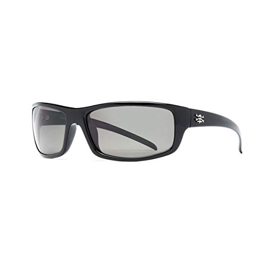Calcutta Prowler Sunglasses (Black Frame, Blue Mirror - Blue Mirror Frame Sunglasses Black