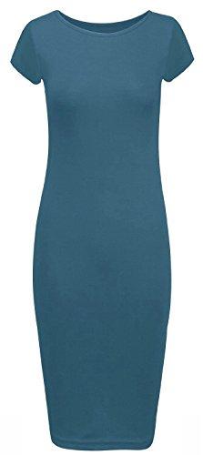 Girls Tunique Femme Manches Crazy Bleu Courtes Robe wFqxdff70