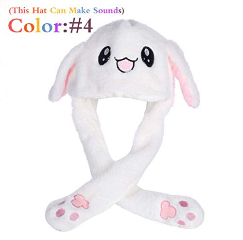 Heartell Cute Rabbit Hat Ear Moving, Pinch Will Move/Vocalization/Luminous, Funny Plush Warm Hat (#4) for $<!--$5.19-->