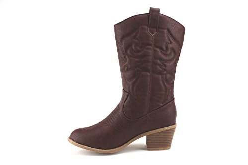 Stitched Western Aldo Cowboy Wine Cowgirl Tall 25 J'aime TEX Women's Boots wpBqnHR