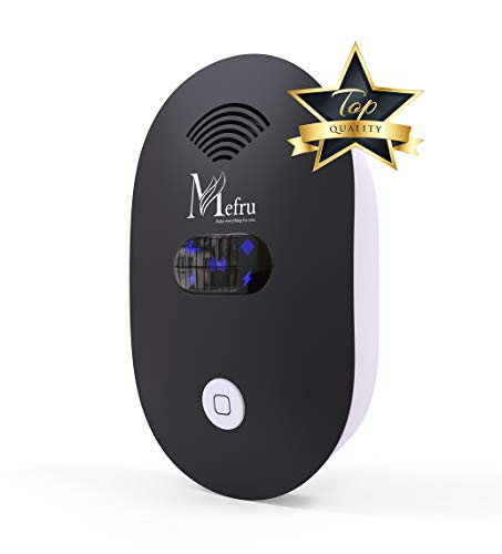 Mefru Indoor Ultrasonic Pest Repeller - Electronic Repellent for Insect, Rodent - Mouse, Rat, Ant, Spider, Fly, Cockroach, Bed Bug, Flea, Mosquito - Humane, Poison-Free Plug-In Deterrent - Night Light