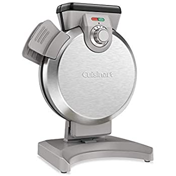 Cuisinart WAF-V100 Vertical Waffle Maker, Silver (Renewed)