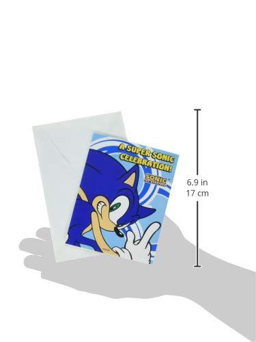 Invitaciones Y Tarjetas Invitación De Sonic Y Gracias Combo 8ct