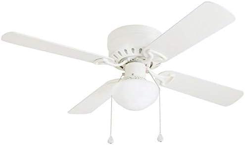 Harbor Breeze Armitage - Ventilador de techo para interior (42 pulgadas, montaje empotrado, kit de luz, 4 hojas), color blanco: Amazon.es: Bricolaje y herramientas