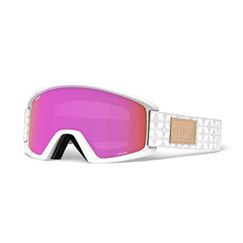 Giro Dylan Womens Snow Goggles White Quilted - Amber Pink/Yellow