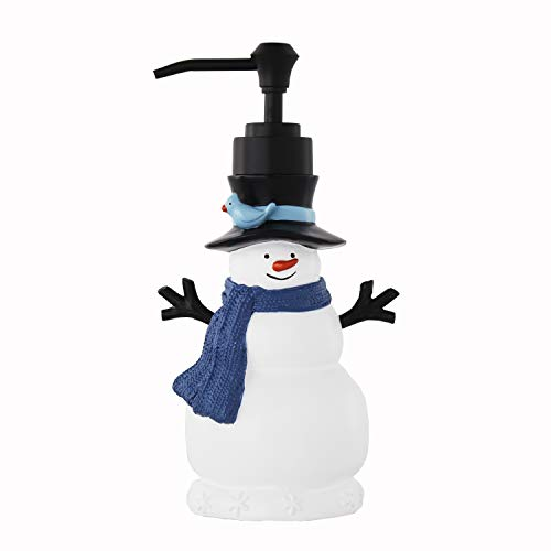SKL HOME by Saturday Knight Ltd. Winter Friends Lotion/Soap Dispenser, Blue (Dispensers Christmas Soap)