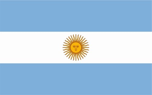 carsticker flag decal sticker colors in two sizes Argentina laminated very long -