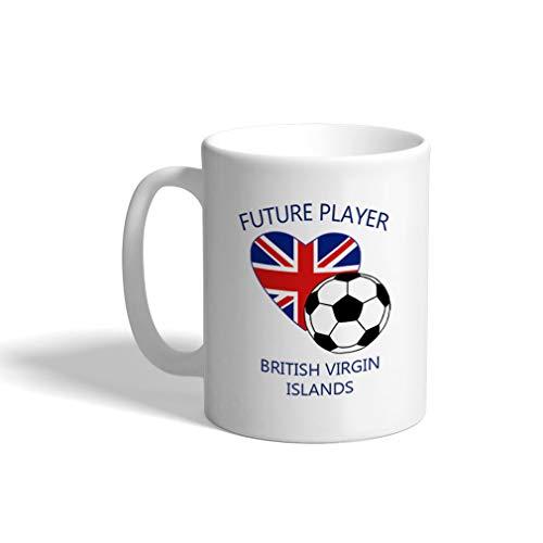Custom Funny Coffee Mug Coffee Cup Future Player British Virgin Islands White Ceramic Tea Cup 11 OZ Design -